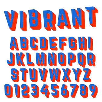 Alphabet font vibrant design
