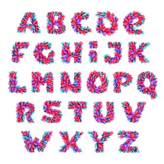 Алфавит из сердечек.