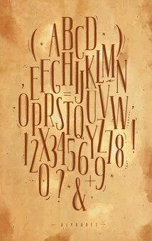 アルファベットゴシックフォントクラフト