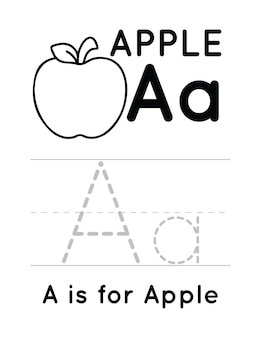Alphabet handwriting practice worksheet for kids