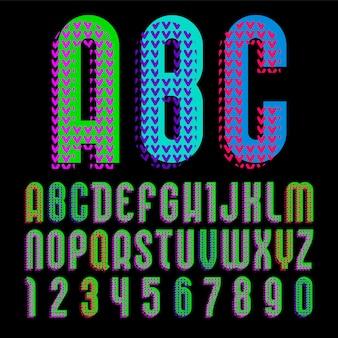 Алфавит в стиле поп-арт, векторные буквы