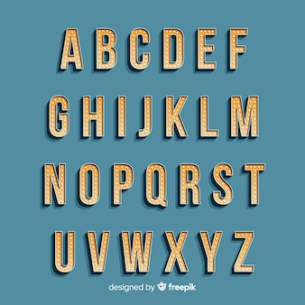 Alphabet in vintage style