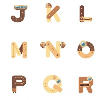 Alphabet j-r robot