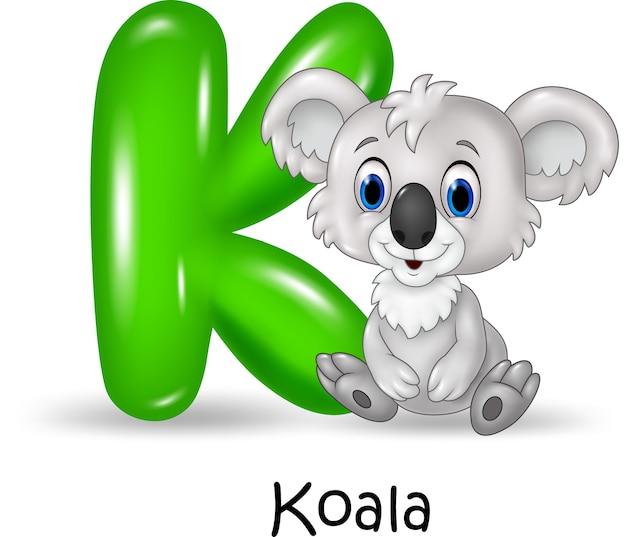 코알라와 알파벳 k
