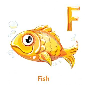 Alphabet, letter f of fish