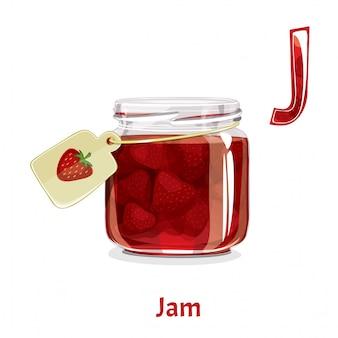 Alphabet, letter j of jam