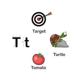 アルファベット文字t