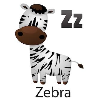 Alphabet letter z-zebra