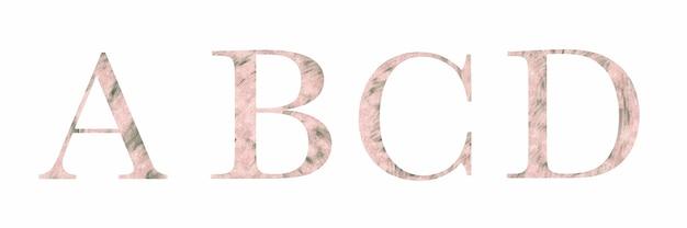 Алфавит, сборник букв-a, b, c, d.
