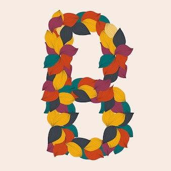 Alphabet letters from leaves illustration