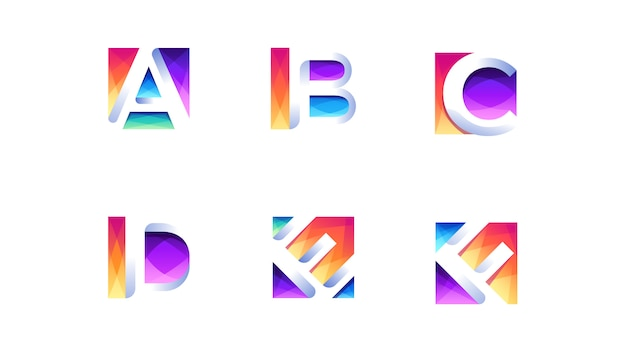 Alphabet logo packs