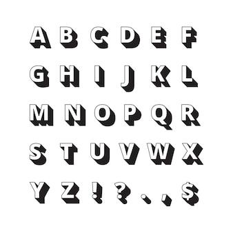알파벳 긴 그림자. 글꼴 굵은 글자 플랫 컬렉션. abc 문자, 글리프 서체 문자 그림