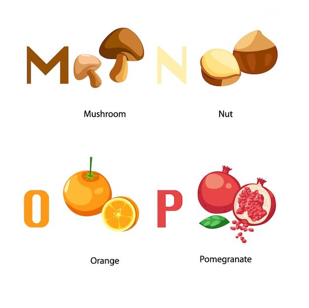 Alphabet m-p letter