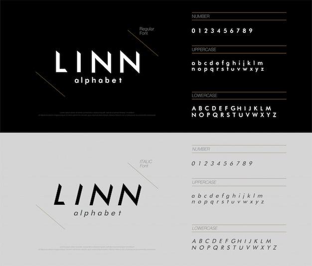 Alphabet modern simple minimal font triangle