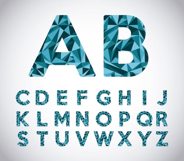 Дизайн алфавита оригами, векторная иллюстрация eps10 graphic
