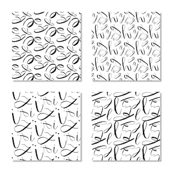 Alphabet Pattern Background Collection