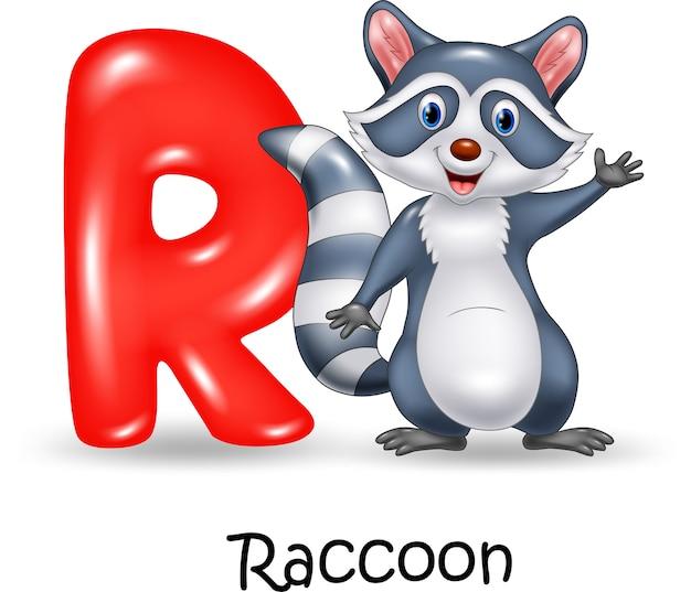 너구리와 알파벳 r