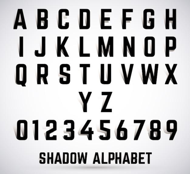 アルファベットシャドーフォント