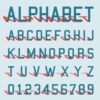 アルファベットのシャドウテンプレート