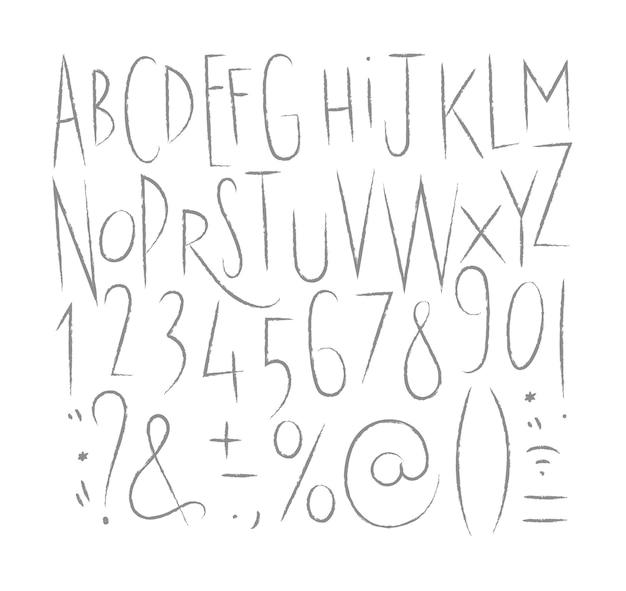 アルファベットシャープラインフォント
