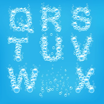 Alphabet of soap bubbles  illustration