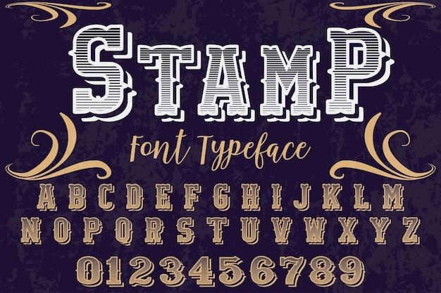 Alphabet stamp