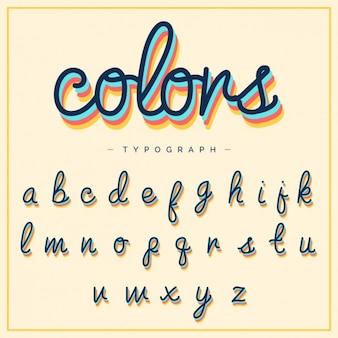 Алфавит дизайн шаблона