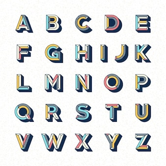 Alphabet template design