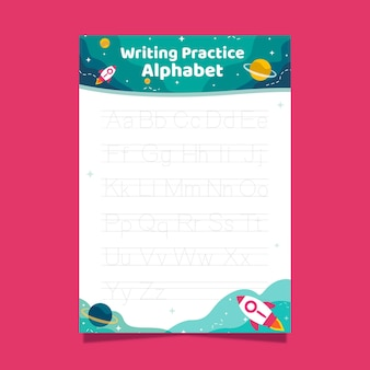 Alphabet tracing template
