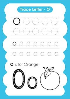 Рабочий лист для начертания алфавита с лексикой по фруктам и овощам