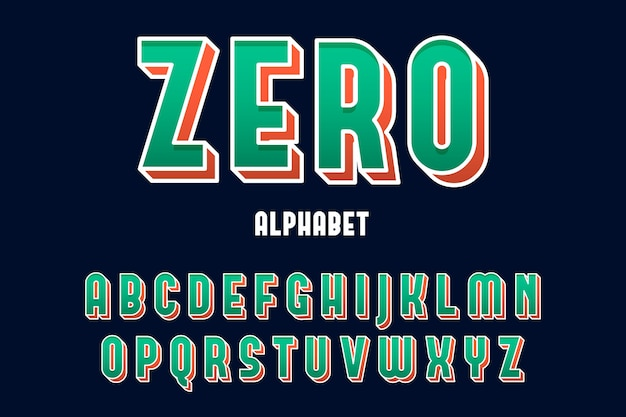 Alphabet wording from a to z in 3d comic style Free Vector