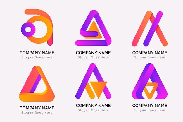 アルファベット文字のロゴコレクション