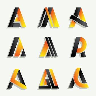 Алфавитная буква коллекции логотипов