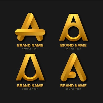 Alphabetical letter a logo collection