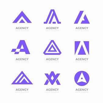 Lettera alfabetica una collezione di logo