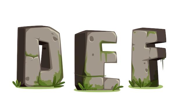 Alphabets made of stone