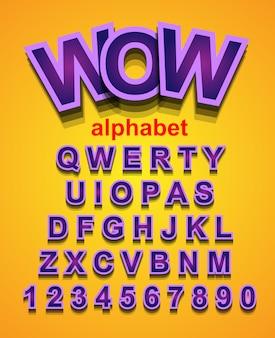 Красочный шрифт alphapet для приглашения на детские праздники