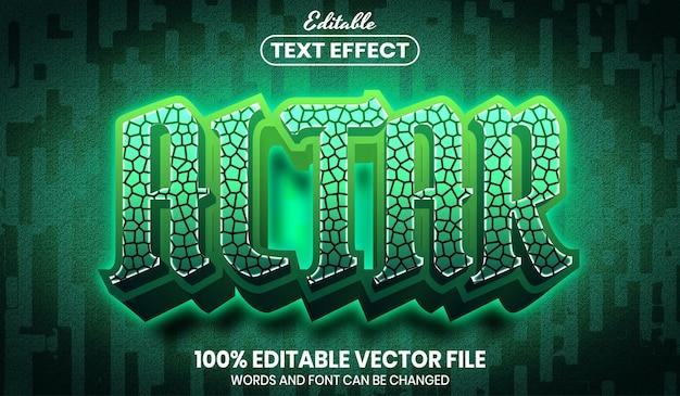 Altar text, editable text effect