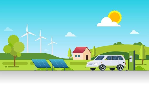 Экологичная и экологичная концепция дизайна альтернативных источников энергии