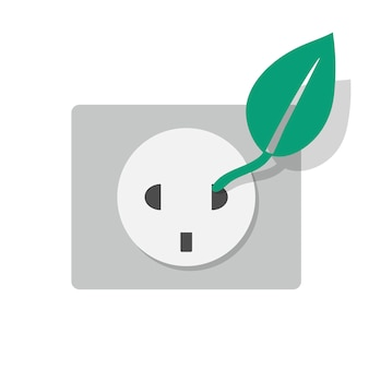 Alternative energy eletrcity socket icon