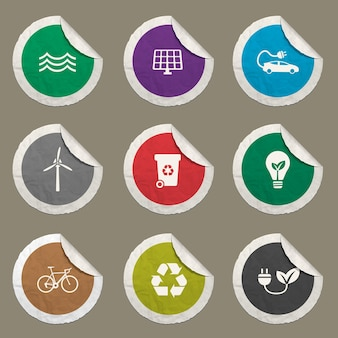 Alternative energy icon for web sites and user interface