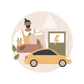 Illustrazione di carburante alternativo
