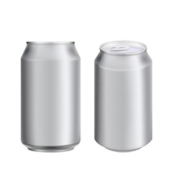 Aluminium can drink soad or beer template