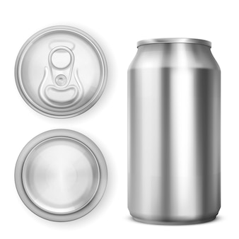 Aluminium can for soda or beer