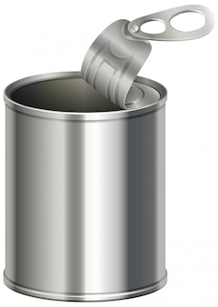 Aluminium can with no label on it
