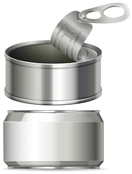 Aluminium cans with no label on it