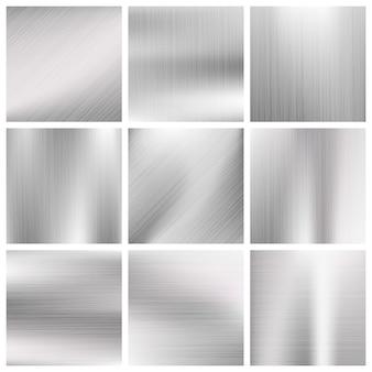 Aluminium metal vector brushed textures