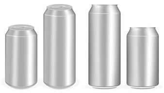 アルミニウムソフトドリンク缶ベクトル