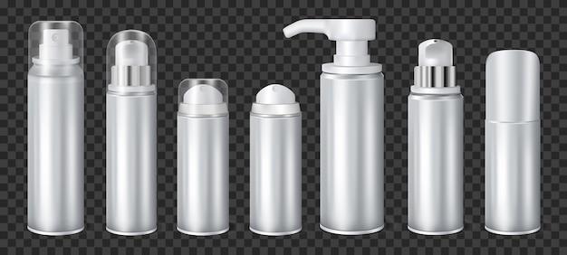 Aluminium spray can transparent