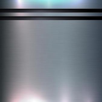 アルミニウムの抽象的なテクスチャの背景技術ブラシと磨かれたシリンダーのデザインコンセプト